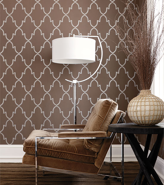 Brown Wall Decor For Living Room : Paint vs wallpaper home interior design ideas